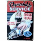 Dependable Service Retro Plaque Metal Plate Home Decor Poster 20x30cm Vintage Ti