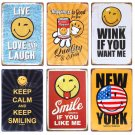 SMILE IF YOU LIKE ME Vintage Tin Signs Bar Pub Cafe Home Wall Decor Retro Metal