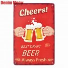 Cheers Best Price Vintage Metal Tin Signs Bar Pub Cafe Home Decor Beer Wall Stic