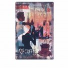 New York Coffee Metal Painting Abstract Art Wall Stickers Vintage Home Decor Ret