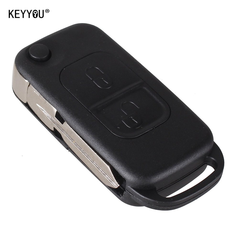 NEW Car Style 2 Button Flip Folding Key Shell Case Entry Remote Key Cover Rep