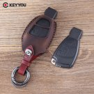 NEW Genuine Leather Key Case Shell Fob 3 Buttons Remote Key Fob Case Cover Fo