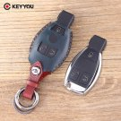 NEW Leather Cover For Benz S SL ML SLK CLK E Smart Key Car Key Shell 3 Button