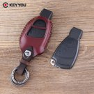 NEW Genuine Leather Keychain Remote Case For Mercedes Benz B C E S ML SLK CLK