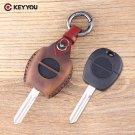 NEW 2 Button Remote Fob Leather Car Key Shell For Nissan Micra Almera Primera