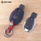 NEW Leather Car Key Shell Replacement Remote Car Key Shell Case Fob For Merce