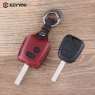 NEW Leather Car Key Cover Holder for Peugeot 206 307 207 408 For Citroen C2 C