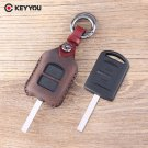 NEW 2 Button Leather Car Key Shell For Vauxhall For Opel Corsa Agila Meriva C