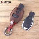 NEW Leather Car Key Shell For Mercedes For Benz CLK/C/E/S Class Car Key Case