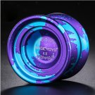 Magic YoYo K8 Professional Alloy Yoyo 8 Balls Bearing Spin Ball Blue Purple