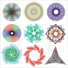 7pcs Spirograph Drawing Design Pen Book Set Toy Stationery Gear Wheel Rulers