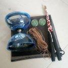 Pro Chinese Yoyo Triple Bearing Diabolo String Juggling Metal Stick Toy