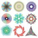 Spirograph Ruler Design Spiral Drawing Kids Art Craft DIY Stencil Education Toys