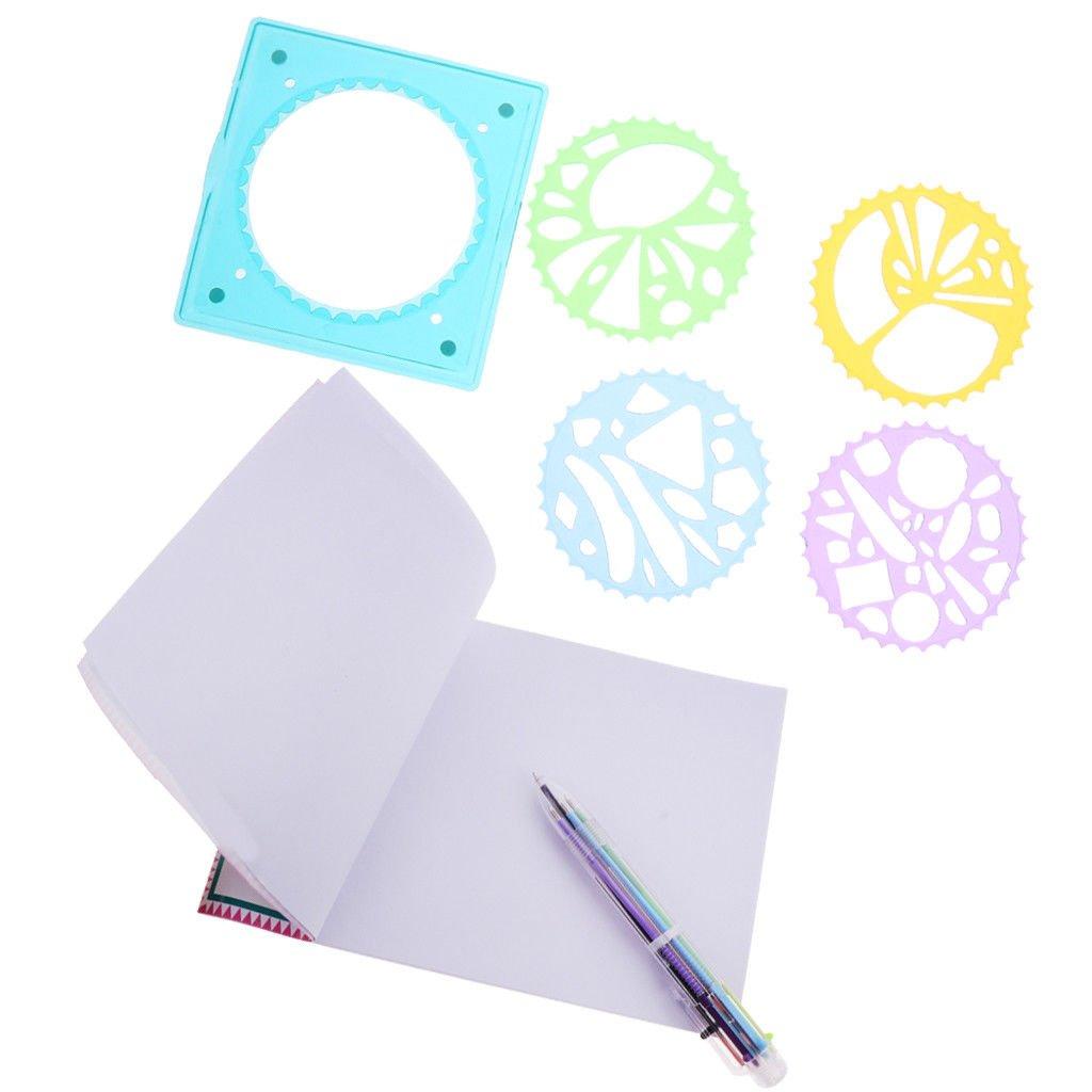 7pcs Spirograph Geometric Ruler Stencil Spiral Art Tool Kit Toy Kid Drawing