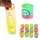 36pcs Kids Toy Mini Plastic Colourful Rainbow Spring Slinky Party Favour Bulk