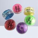 15Pcs Yo-Yo Ball Plastic Luminous Portative Durable Glittery Yoyo for Birthday
