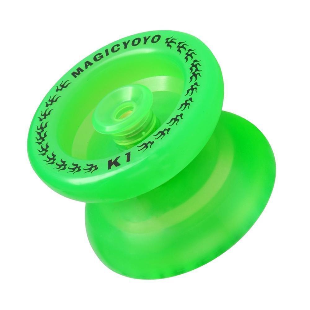 Magic Yoyo K1 ABS Alloy Spin Yo-yo Ball w/ String Beginner Toys Fluorescent