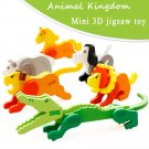 Montessori Mini 3D Puzzle Kids Educational Funny Toy Wooden Colorful Jigsaw Gift