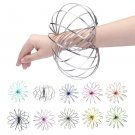 13x13CM Amazing 3D Dynamic Flow Rings Toy Juggle Dream/Dance Stainless Steel