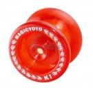 Magic YoYo K1 Spin Ball Bearing YoYo w/ STRINGS Kid Classic Toys Clear Red