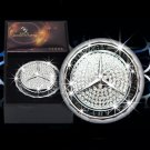 Mercedes-benz Car Air Freshener Perfume with Diamonds Emblem Logo Free Post Gift