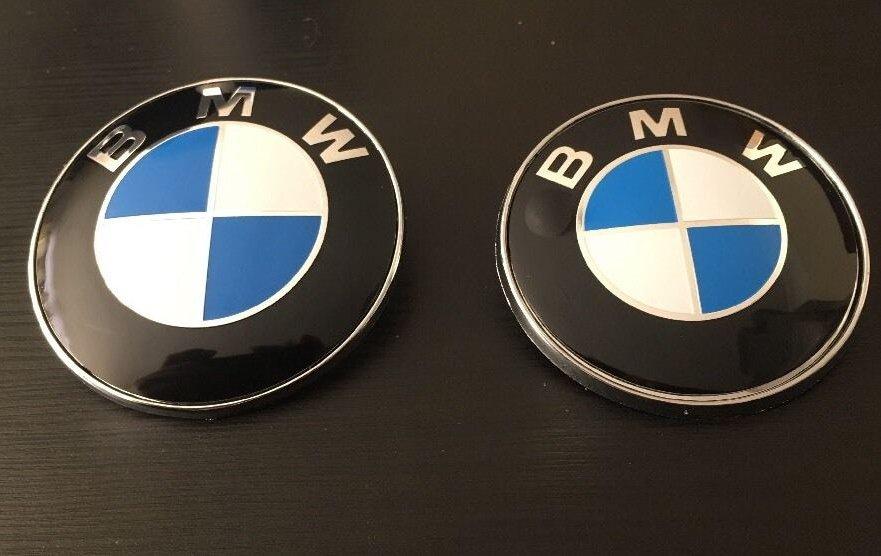 82mm + 74mm BMW Bonnet/Boot Emblem logo fits E30 E36 E46 3 5 7 X Series e90