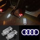 Audi 2pc LED Light Logo Projector Emblem Ghost Shadow Light Door Welcome Light
