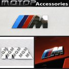 M Logo 3D Metal Racing Front Badge Emblem Sticker Decal Self Adhesive ///M