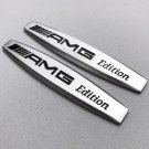 NEW (2pc) MERCEDES-BENZ AMG EDITION LOGO FENDER METAL EMBLEM NAMEPLATE