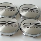 SET OF 4 OZ RACING ALLOY WHEEL BADGES CENTER HUB CAPS 60mm BLACK EMBLEM LOGO O.Z