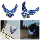 Metal Blue 3D Air Force Emblem Logo Badge Car Off-Road Fender Cover Sticker 3M