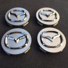 New Mazda 3 5 6 CX-7 CX-9 Wheel Center Hub Cap 56mm Silver with chrome logo