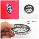 Black Round Trail Rated & 4X4 Logo Metal Car Badge Emblem Sticker For Chevrolet