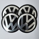 VOLKSWAGEN VW Sticker Aluminum Size 90mm Emblem Decal Logo Set of 4pcs
