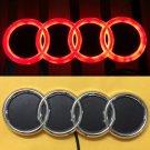 4D LED Car Tail Logo Red Light for Audi Q3 Q5 A1 A3 TT Auto Badge Light Emblems