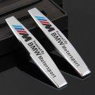 1 Pair Car Logo Auto Side Fender Sticker Chrome Badge Decal Emblem for BMW