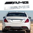 1Pcs AMG Car Metal emblem badge symblo logo For Benz Car Body Rear Trunk Lid