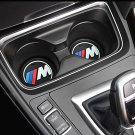 2x Cup Decor for BMW with M Logo Performance Decoration for Interior X6 X5 X1 X4