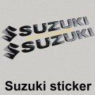 Suzuki S Sticker Logo Motorcycle Black Fuel Tank Decal Emblem 3D Moto Car Badge