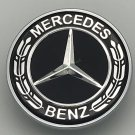 NEW Black Flat Hood Emblem Ornament Logo For MERCEDES BENZ C E SL CLS S CLASS