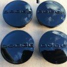 NEW SET OF 4 DODGE 2.5 INCH BLACK CENTER WHEEL HUB COVER CAPS RIM EMBLEM LOGO