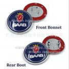 2x Saab*Badge 9-3,9-5 Set Boot Back & Bonnet Front Logo Emblem 68mm