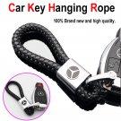 Black Metal Alloy Leather Mercedes-Benz Toyota Logo Emblem Key Chain Key Ring