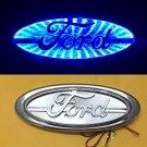 3D LED Car Tail Logo Blue Light for Ford Focus Mondeo Kuga Auto Badge Light