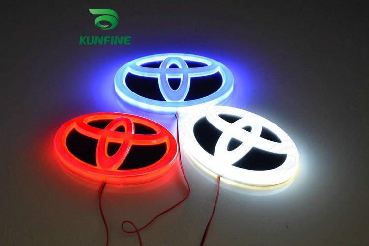 Auto Hinten/Front LED Kennleuchte Auto Led Emblem Auto Logo für Toyota 16x11cm