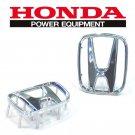 For Honda CRV 2007-2011 Steering Wheel Logo Silver H Badge Emblem (53*43mm) 1pcs