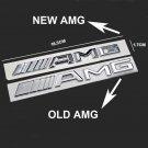 1PCS Silver 3D New Benz AMG Trunk Emblem Logo Rear Car Sticker Badge Decoration