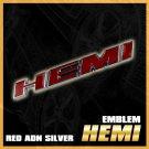 1x Red Italic Logo HEMI Emblem Badge Sticker Auto Car Decal Trunk Lips For Jeep