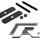 3D Black R Logo Car Aluminum Front Hood Grille Emblem Badge Sticker for VW Golf