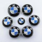 7x emblem SET Carbon Fiber Blue/White Emblem Logo FIT For BMW² e60 e90 e46 f10